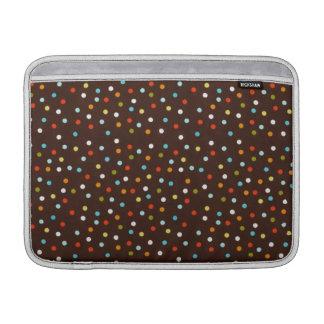 Cute Colorful Polka Dots Brown MacBook Air Sleeves