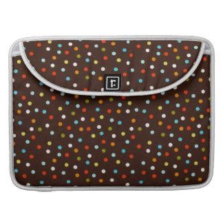 Cute Colorful Polka Dots Brown MacBook Pro Sleeves
