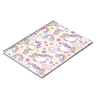 Cute & Colorful Rainbows and Unicorns | Notebook