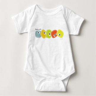 Cute colorful rocks a roll'n from Sorbert Baby Bodysuit