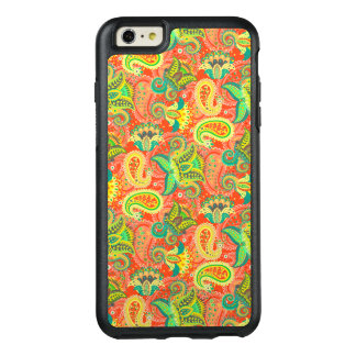 Cute colorful seamless paisley pattern OtterBox iPhone 6/6s plus case