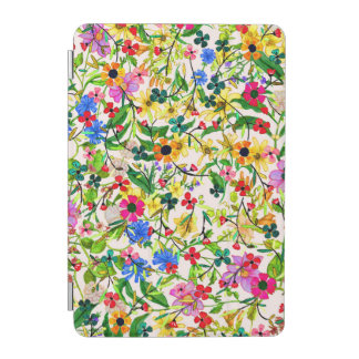 Cute colorful spring floral flowers iPad mini cover