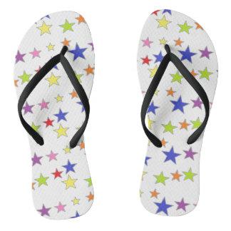 Cute Colorful Stars Design Flip Flops