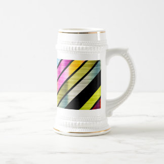 Cute colorful stripes beer stein