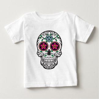 Cute Colorful Sugar Skull Dia de los Muertos Baby T-Shirt