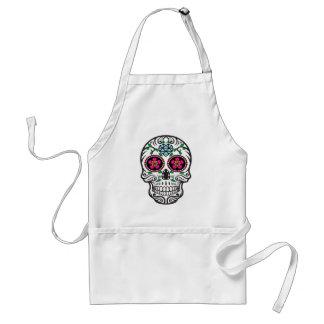 Cute Colorful Sugar Skull Dia de los Muertos Standard Apron