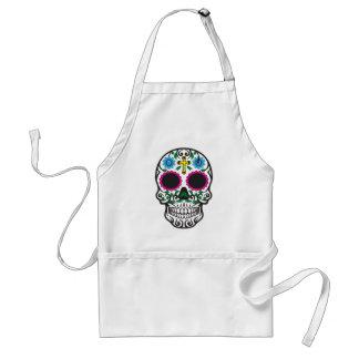 Cute Colorful Sugar Skull Standard Apron