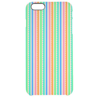 Cute colorful summer stripes clear iPhone 6 plus case