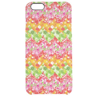Cute colorful summer zigzag pattern clear iPhone 6 plus case