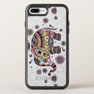 Cute Colorful Tribal Flowers Elephant Illustration OtterBox Symmetry iPhone 7 Plus Case