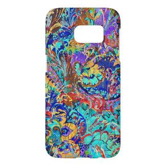 Cute colorful vintage floral samsung galaxy s7 case