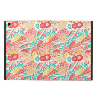 Cute colorful vintage flowers pattern iPad air case