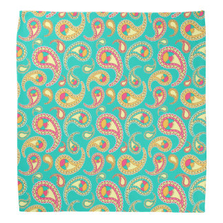 Cute colorful vintage paisley pattern bandana