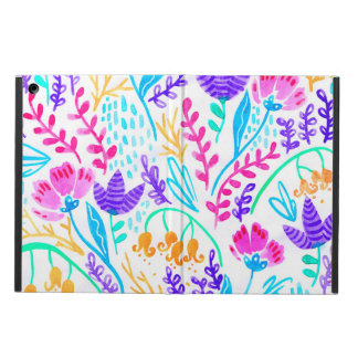 Cute colorful watercolor flowers cover for iPad air