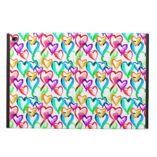 Cute colorful watercolor hearts pattern powis iPad air 2 case