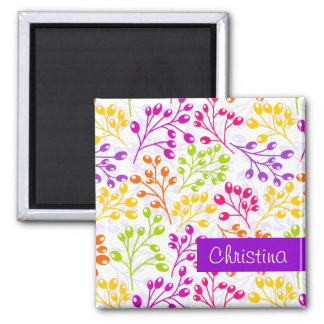 Cute colorful & white autumn berries magnet