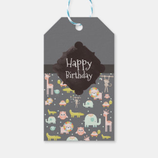 Cute Colorful Wild Animals Nursery Art Birthday Gift Tags