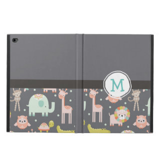 Cute Colorful Wild Animals Nursery Art Monogram Powis iPad Air 2 Case