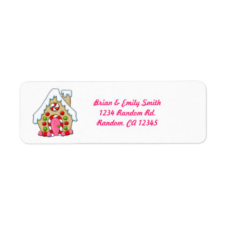 Cute colors gingerbread house return labels