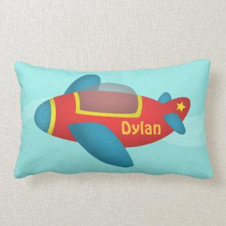 Cute Colourful Aeroplane Jet for Kids Lumbar Pillow