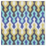 Cute colourful blue yellow chevron ikat pattern fabric