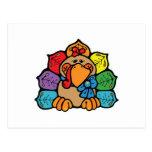 cute colourful cartoon turkey