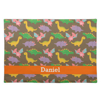 Cute Colourful Dinosaur Pattern for Kids Placemat