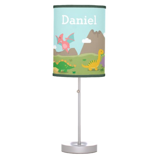 Cute Colourful Dinosaurs For Boys Room Table Lamps