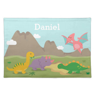 Cute Colourful Dinosaurs For kids Placemats