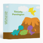 Cute colourful dinosaurs personalized avery binder