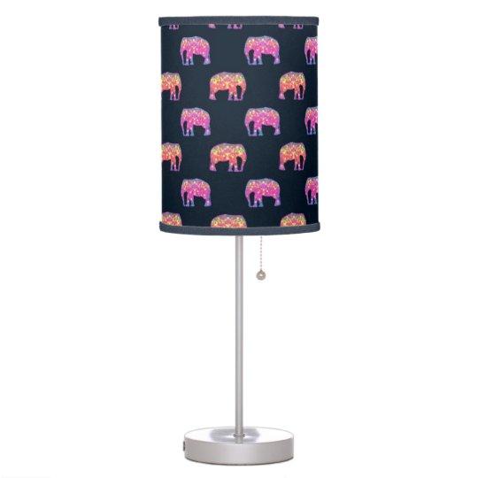 Cute Colourful Elephants Table Lamp