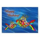 Cute Colourful Fish Birthday Card