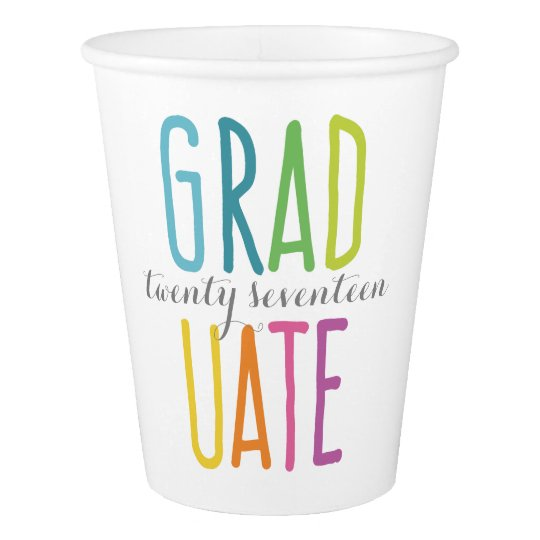 Cute Colourful Graduation Paper Cups Paper Cup