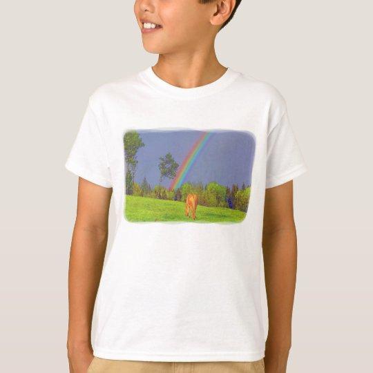Cute Colourful Horse and Rainbow Design T-Shirt