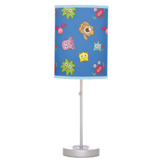 Cute Colourful Little Monsters Pattern Kids Room Table Lamp
