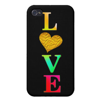 cute colourful love heart iphone7 cover design case for iPhone 4