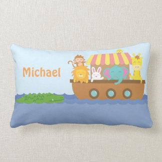Cute Colourful Noahs Ark Baby Nursery Room Decor Lumbar Pillow