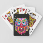 Cute Colourful Owl Cards, Standard Index faces Playing Cards