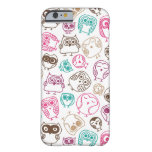 Cute colourful owl pattern in pink and blue