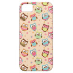 Cute Colourful Owls iPhone Case (pale apricot)