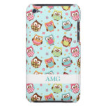 Cute Colourful Owls on Teal Pattern