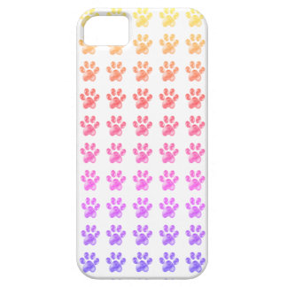 Cute colourful paws iPhone 5 covers