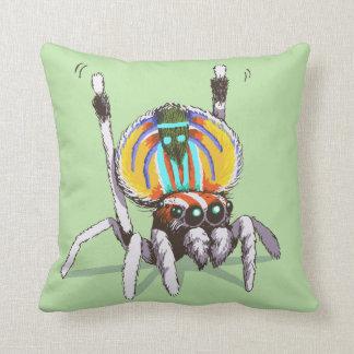 Cute Colourful Peacock Spider Drawing Art Cushion