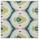 Cute colourful pink mint ikat tribal patterns fabric