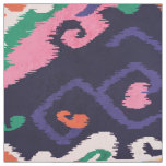 Cute colourful pink navy blue ikat tribal patterns fabric