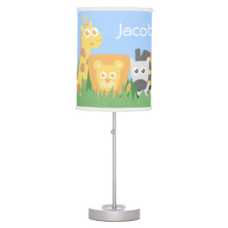 Cute Colourful Safari Animals Kids Room Decor Table Lamp