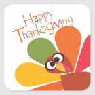 Cute Colourful Turkey Happy Thanksgiving Sticker