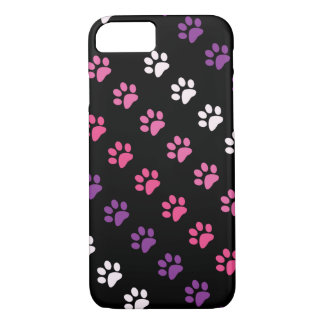 Cute Colred Dog Paws Pattern iPhone 7 Case