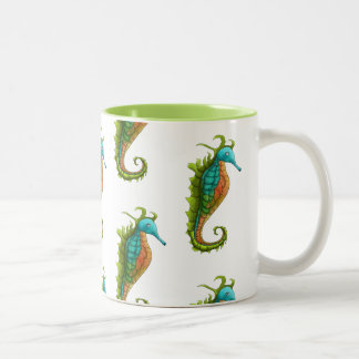 Cute Colroful Island Art Seahorse Mug by Yotigo