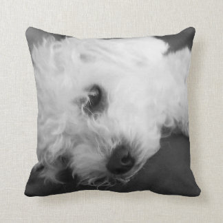 CUTE COMFY POODLE THROW PILLOW
